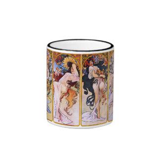 Alfons Mucha ~ The four seasons Mug