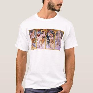 Alfons Mucha ~ The four seasons T-Shirt