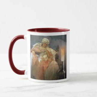 Alfons Mucha ~ Women with Burning Candle Mug