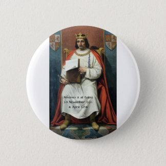 Alfonso x el Sabio 6 Cm Round Badge