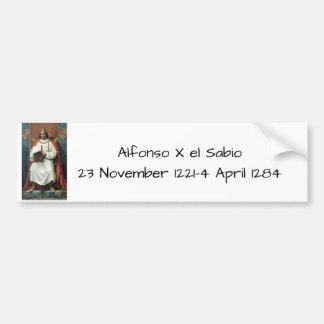 Alfonso x el Sabio Bumper Sticker