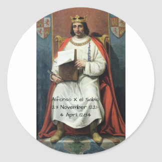Alfonso x el Sabio Classic Round Sticker