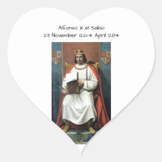 Alfonso x el Sabio Heart Sticker