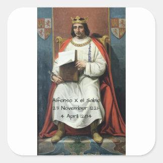 Alfonso x el Sabio Square Sticker