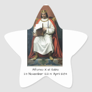 Alfonso x el Sabio Star Sticker