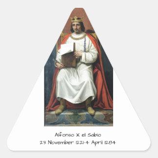 Alfonso x el Sabio Triangle Sticker