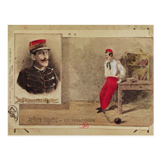 Alfred Dreyfus  as a prisoner, 1894-1906 Postcard