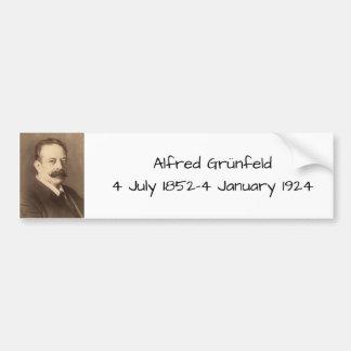 Alfred Grunfeld Bumper Sticker