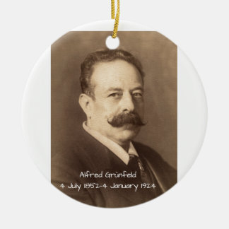Alfred Grunfeld Ceramic Ornament
