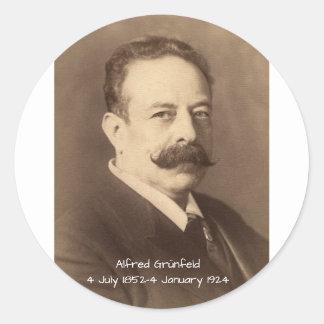 Alfred Grunfeld Classic Round Sticker