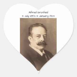 Alfred Grunfeld Heart Sticker