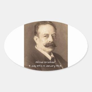 Alfred Grunfeld Oval Sticker