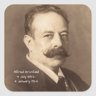 Alfred Grunfeld Square Sticker