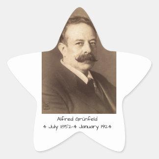 Alfred Grunfeld Star Sticker