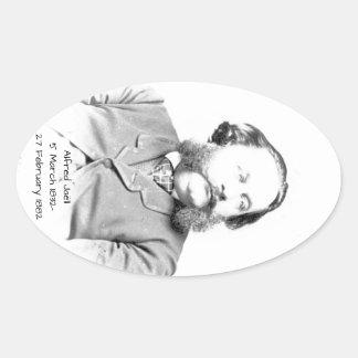 Alfred Jaell Oval Sticker