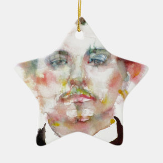 alfred jarry - watercolor portrait.1 ceramic ornament