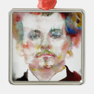 alfred jarry - watercolor portrait.1 metal ornament