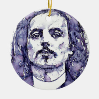 alfred jarry - watercolor portrait.2 ceramic ornament