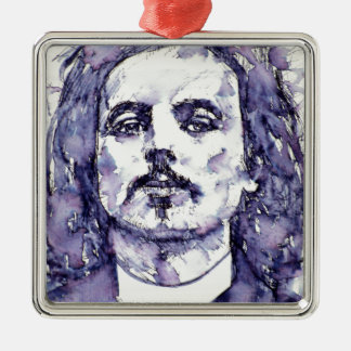 alfred jarry - watercolor portrait.2 metal ornament