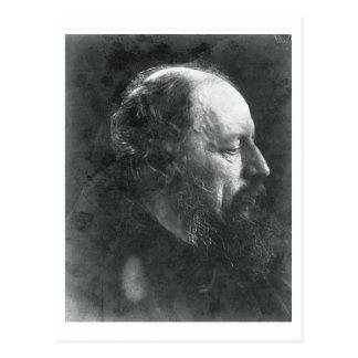 Alfred, Lord Tennyson (1809-92) c.1868 (albumen pr Postcard