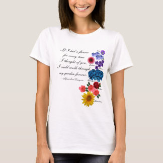 Alfred Lord Tennyson Garden Quote Romantic Floral T-Shirt