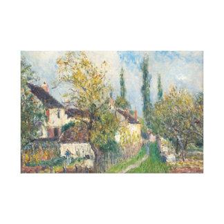 Alfred Sisley - A Path at Les Sablons Canvas Print