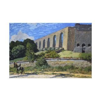 Alfred Sisley - Aqueduct at Marly Canvas Print