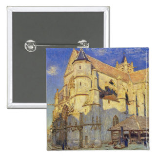 Alfred Sisley | Church at Moret, Frosty Weather 15 Cm Square Badge