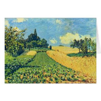 Alfred Sisley Grain Fields Argenteuil Card