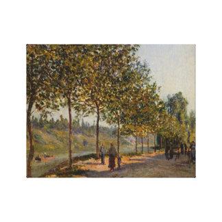 Alfred Sisley - June Morning in Saint-Mammès Canvas Print