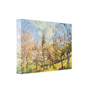 Alfred Sisley - Orchard in spring Gallery Wrapped Canvas