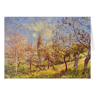 Alfred Sisley Orchard in Spring Card