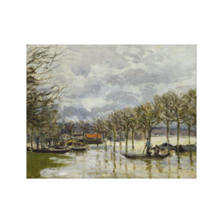 Alfred Sisley - The Flood on the Road Canvas Print