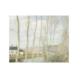 Alfred Sisley - The Loing's Canal Canvas Print