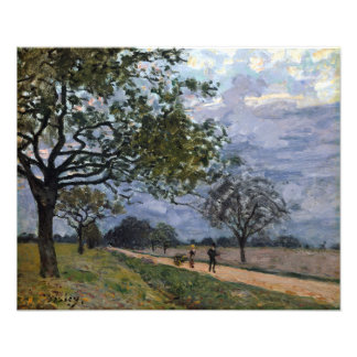 Alfred Sisley The Road from Versailles to Louvecie Photo Print