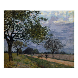 Alfred Sisley The Road from Versailles to Louvecie Poster