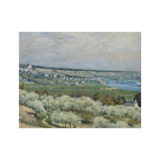 Alfred Sisley - The Terrace at Saint-Germain Canvas Print