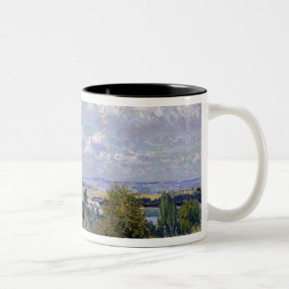 Alfred Sisley | Valley of the Seine at St-Cloud Two-Tone Coffee Mug