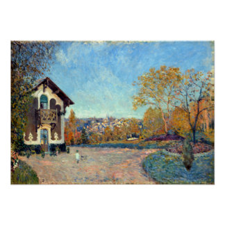 Alfred Sisley View of Marly-le-Roi from Coeur-Vola Poster