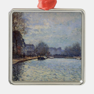Alfred Sisley | View of the Canal St-Martin, Paris Metal Ornament
