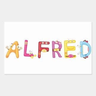 Alfred Sticker