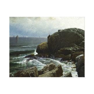 Alfred Thompson Bricher - Castle Rock, Marblehead Canvas Print
