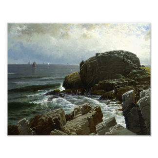 Alfred Thompson Bricher - Castle Rock, Marblehead Photographic Print