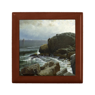 Alfred Thompson Bricher - Castle Rock, Marblehead Small Square Gift Box