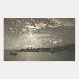 Alfred Wahlberg - Moonlight Mood, The Stockholm Rectangular Sticker