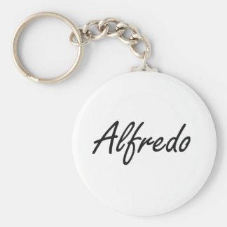 Alfredo Artistic Name Design Basic Round Button Key Ring
