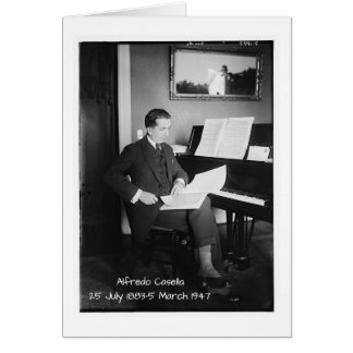 Alfredo Casella Card
