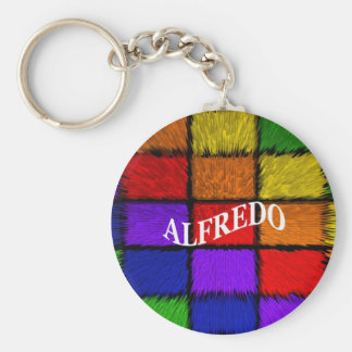 ALFREDO (male names) Basic Round Button Key Ring