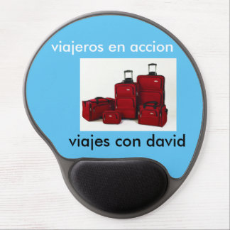 alfrombra of mouse. travellers in action gel mouse pad