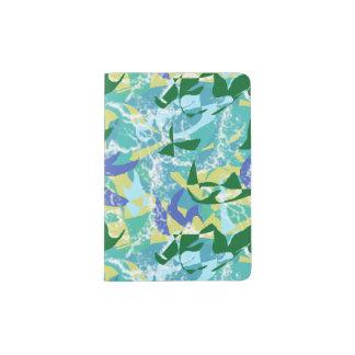 Algae Seaweed Ocean Sea Blue Green Water Nautical Passport Holder